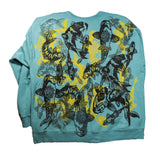 """Koi Pond"" Woodcut Printed Sweatshirt - XXL"