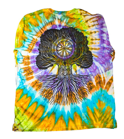 """Merlin Tree of Life"" Long Sleeve Tie-Dye - XXL"