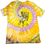 Spaceman Woodcut Tie-Dye - XXL