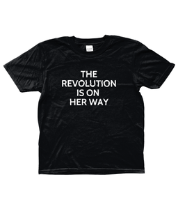 *WOMAN'S TRUST CHARITY SHE-SHIRT* THE REVOLUTION - AGED 3-13 YEARS - girls' short sleeve t-shirt (mini she-shirt) (various colours)