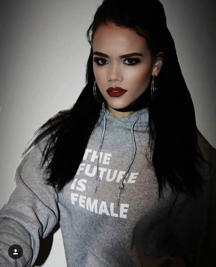 The Future is Female hoodie feminist hoody feminism sweater grey gray