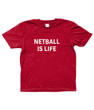 NETBALL IS LIFE - AGED 3-13 YEARS - girls' short sleeve t-shirt (mini she-shirt) (various colours)