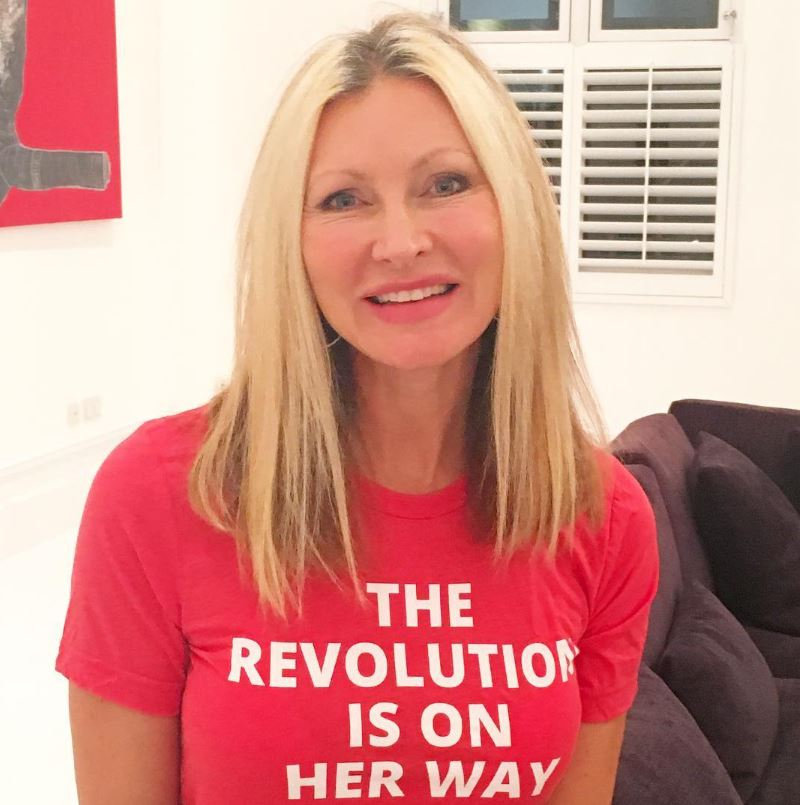 Caprice Bourret domestic abuse Woman's Trust feminist charity t-shirt fashion The Revolution Is On Her Way