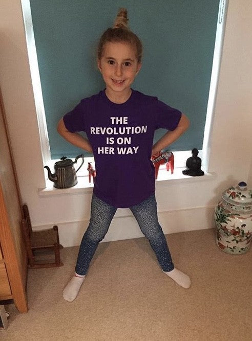 *WOMAN'S TRUST CHARITY SHE-SHIRT* THE REVOLUTION - AGED 8-12 YEARS - girls' short sleeve t-shirt (mini she-shirt) (various colours)