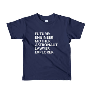 navy blue Future Female t-shirt The Future is Female childrens t-shirt kids tshirt girls feminist tshirt