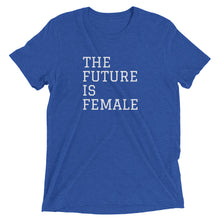THE FUTURE IS FEMALE - women's short sleeve t-shirt (she-shirt) (white print on various colours)