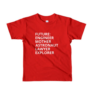 red Future Female t-shirt The Future is Female childrens t-shirt kids tshirt girls feminist tshirt