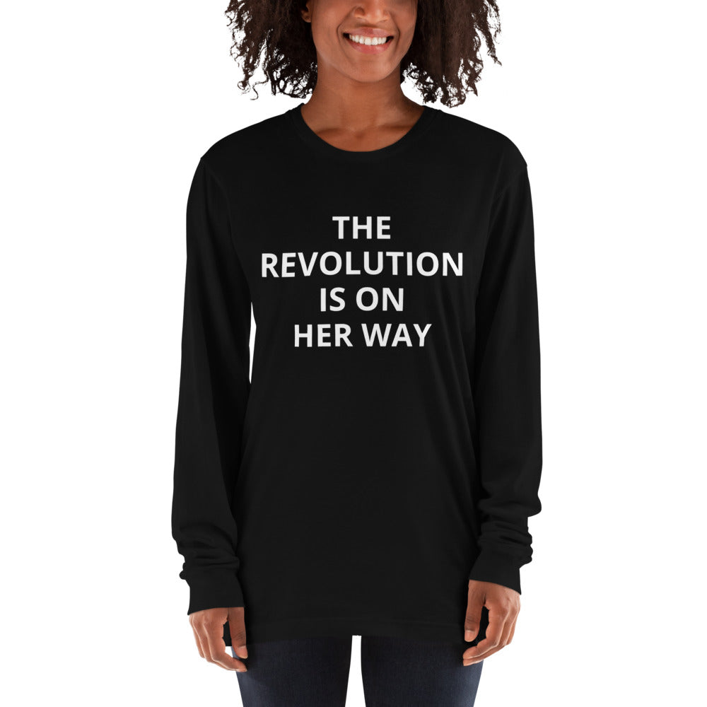 *WOMAN'S TRUST CHARITY LONG-SLEEVE SHE-SHIRT* - REVOLUTION - UNISEX boyfriend fit she-shirt (white print on various colours)