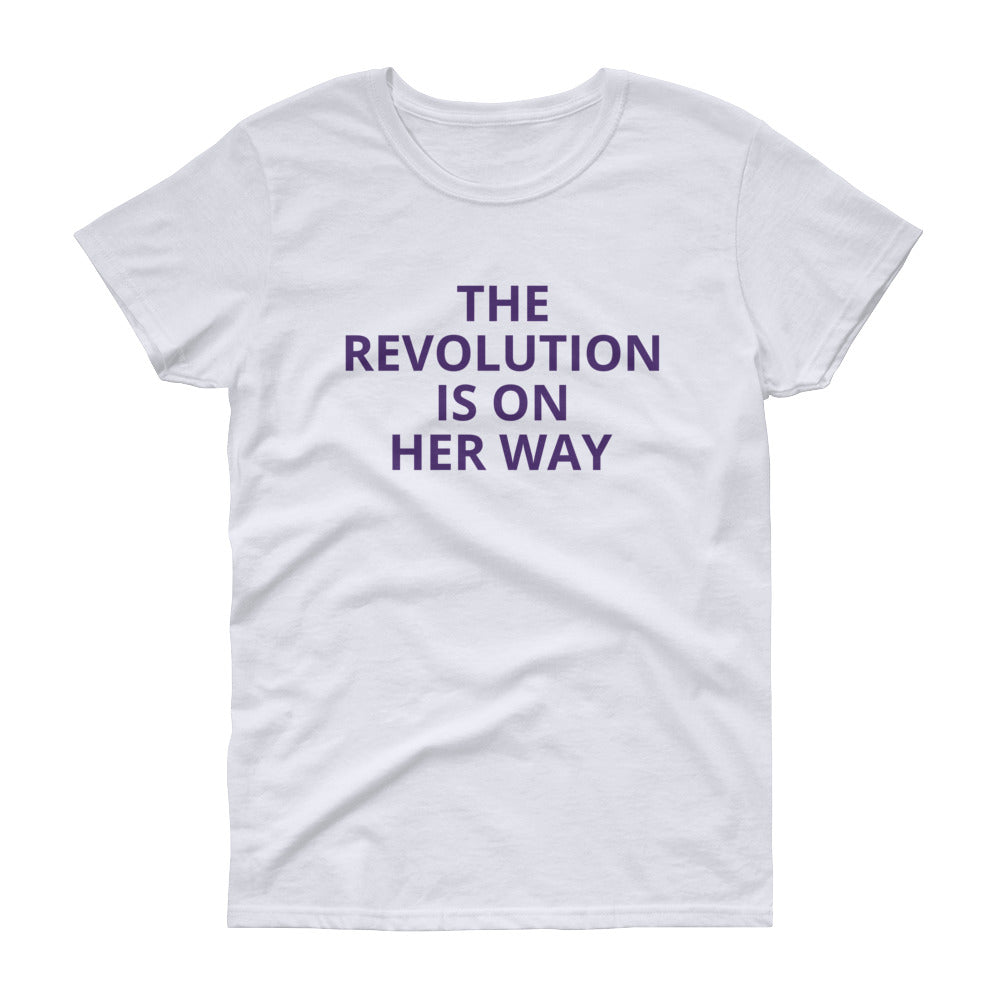 domestic abuse Woman's Trust feminist charity t-shirt fashion The Revolution Is On Her Way