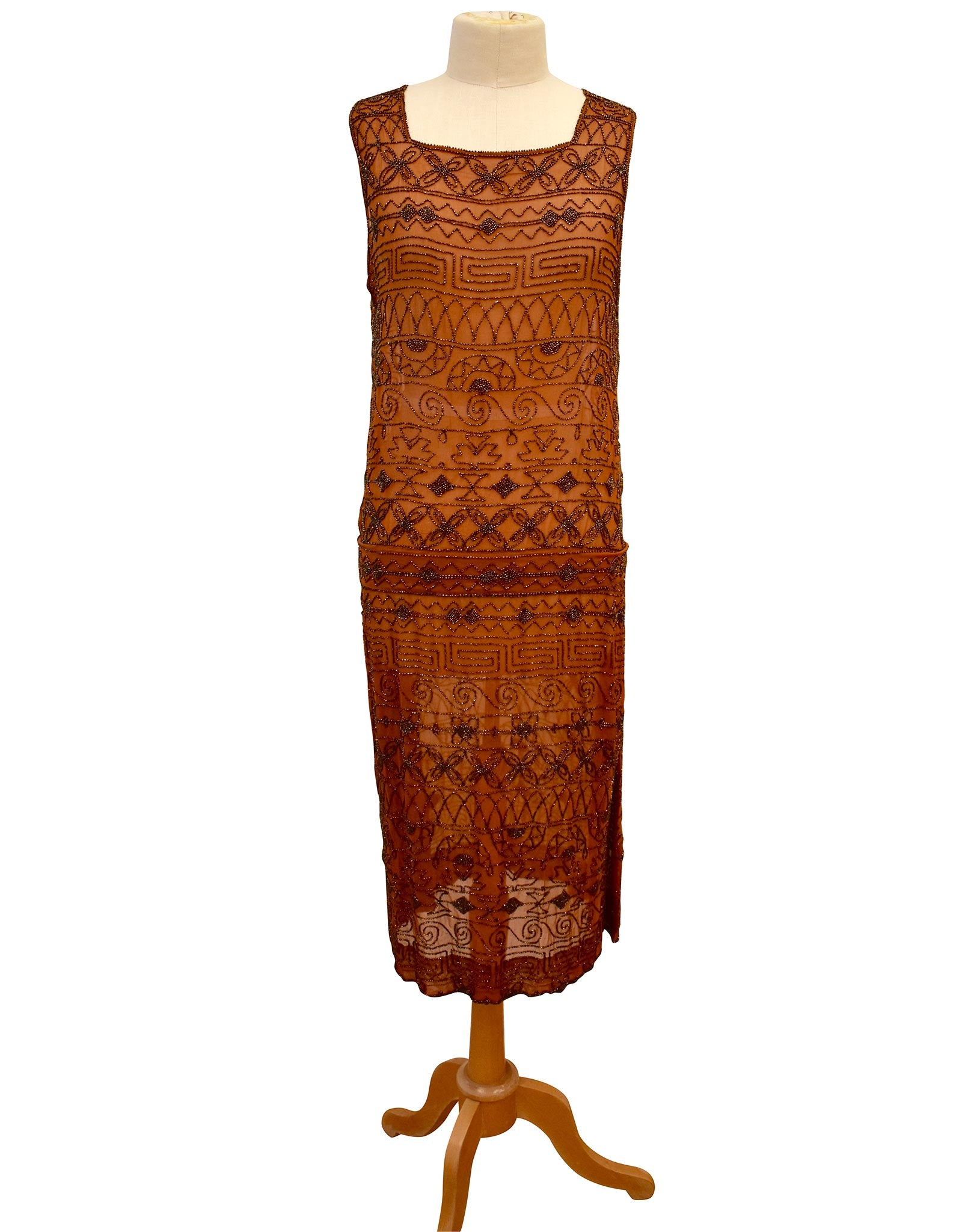 1920s Silk Beaded Dress