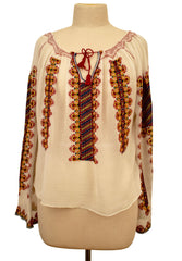 Long Sleeve Romanian Blouse