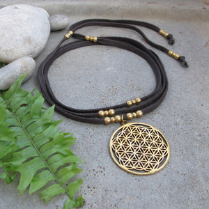 ☆Sri Yantra Choker Necklace ☆ Flower of Life Choker Necklace☆