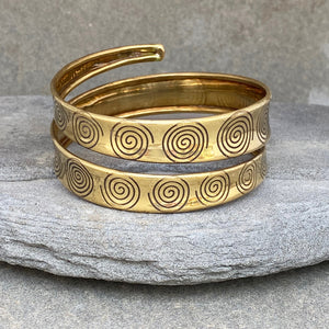 Wrapped Arm Bracelet Spiral ☆Brass☆