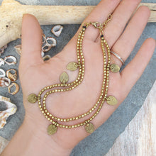 Load image into Gallery viewer, ☆Two Line Lotus Anklet☆ Brass☆