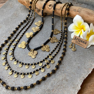 Rudraksha Seed Necklace ☆Black☆
