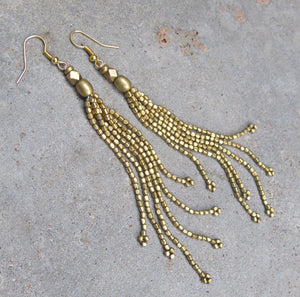 ☆Tassel Earrings☆ ☆Brass☆