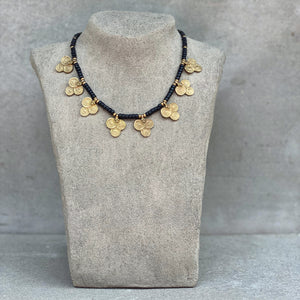 Tribal Flower Necklace ☆Black☆