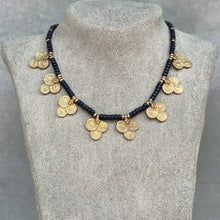 Load image into Gallery viewer, Tribal Flower Necklace ☆Black☆