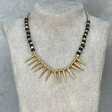 Load image into Gallery viewer, Tribal Spike Necklace ☆Black☆