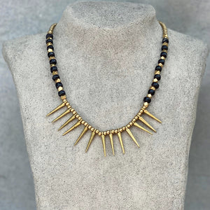 Tribal Spike Necklace ☆Black☆