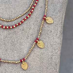 Lee Layered Necklace ☆Red☆