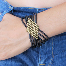 Load image into Gallery viewer, ☆Geometric Boho Bracelet☆ Black☆