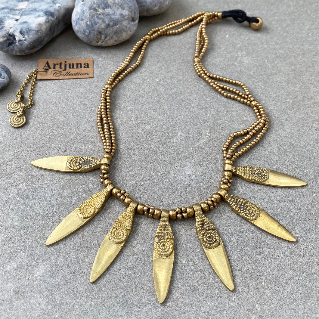 Sun Ray Necklace ☆Brass☆