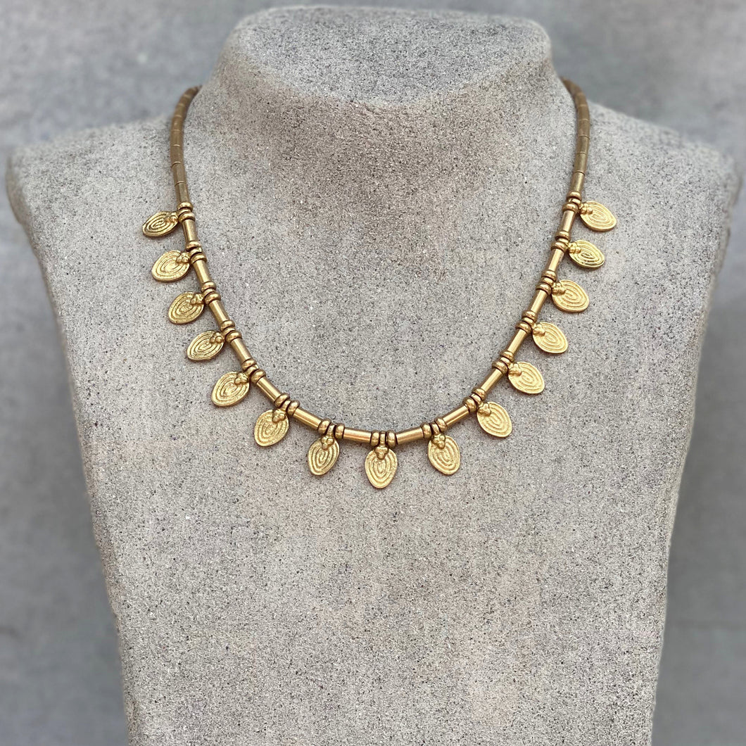 Drop Collar Necklace ☆Brass☆