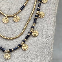 Load image into Gallery viewer, Mia Layered Necklace ☆Black☆
