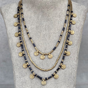 Mia Layered Necklace ☆Black☆