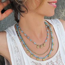 Load image into Gallery viewer, Mia Layered Necklace ☆Turquoise☆