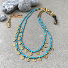 Load image into Gallery viewer, Sai Layered Necklace ☆Turquoise☆