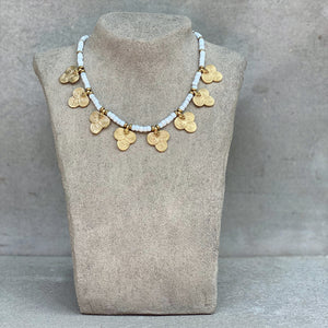 Tribal Flower Necklace ☆White☆