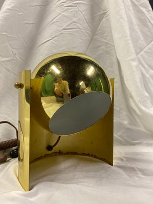 Curved Brass Globe Table Lamp