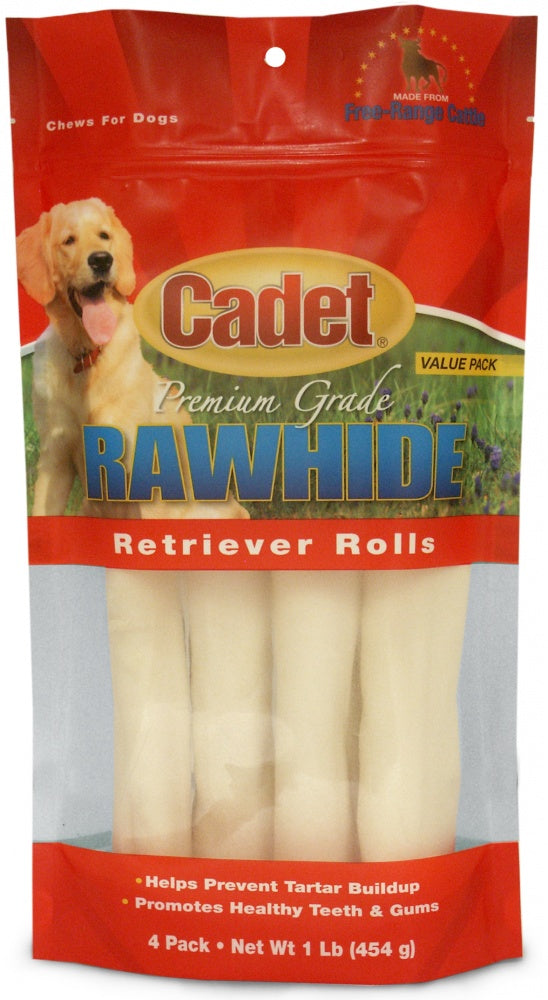 Cadet Rawhide Retriever Natural Flavor Rolls for Dogs