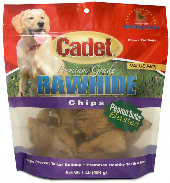 Cadet Rawhide Peanut Butter Chips for Dogs
