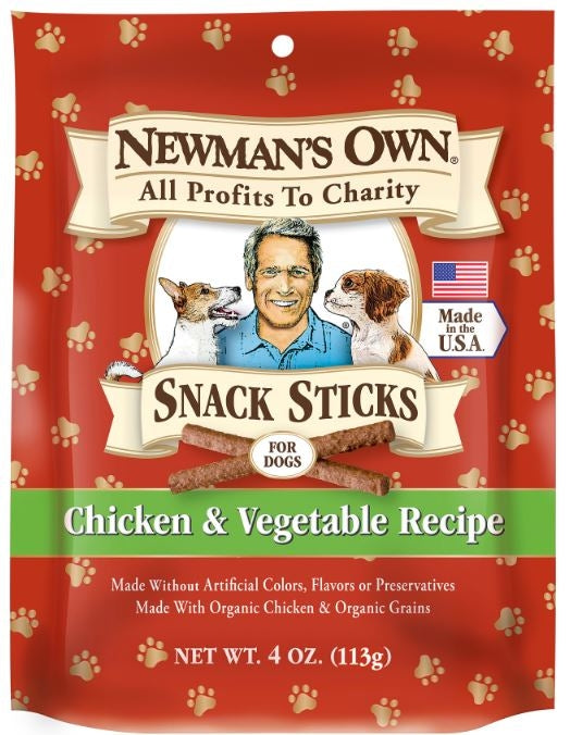 Newman's Own Organics Chicken and Vegetable Snack Dog Sticks