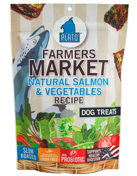 Plato Farmers Market Salmon And Veggie Strips Dog Treats