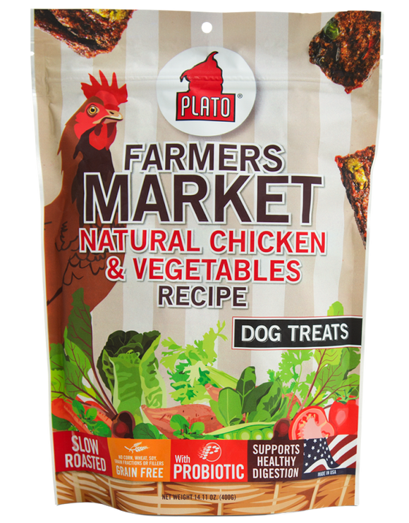 Plato Farmers Market Chicken And Veggie Strips Dog Treats