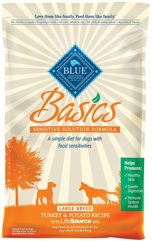 Blue Buffalo Basics Large Breed Adult Turkey and Potato Recipe Dry Dog Food