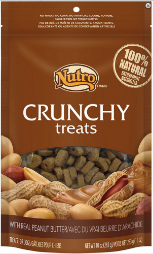 Nutro Natural Choice Crunchy Dog Treats with Real Peanut Butter