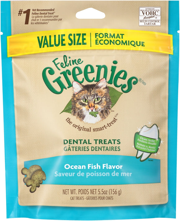 Greenies Feline Dental Ocean Fish Flavor Cat Treats