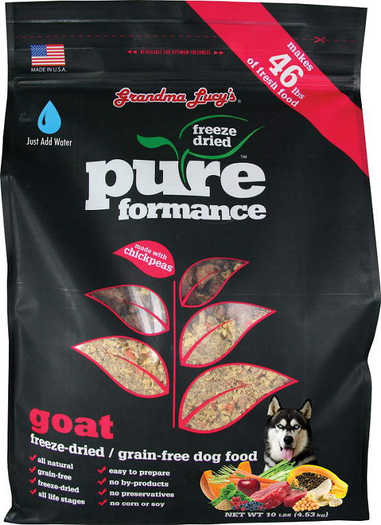 Grandma Lucy's Pureformance Goat and Chickpea Freeze Dried Grain Free Dog Food