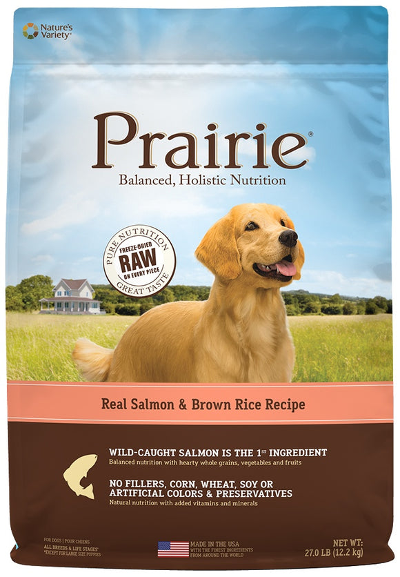 Nature's Variety Prairie Salmon and Brown Rice Recipe Dry Dog Food