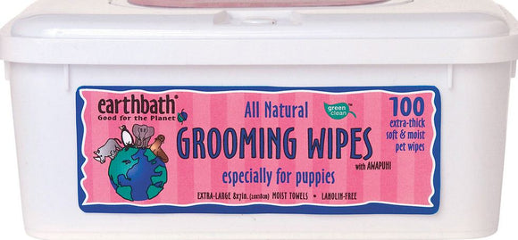 Earthbath Fresh Cherry Essence Grooming Wipes for Puppies