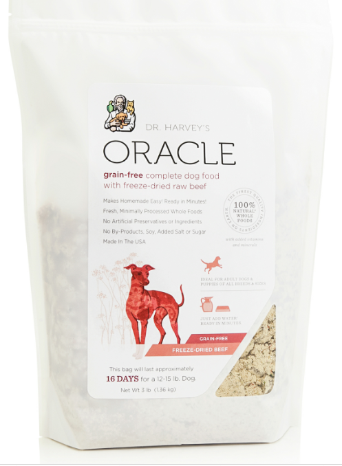Dr. Harvey's Oracle Grain Free Beef Freeze Dried Beef Formula for Dogs Food