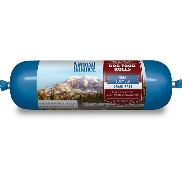Natural Balance Grain Free Dog Food Rolls Beef Formula