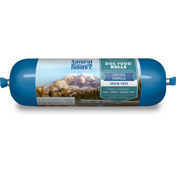 Natural Balance Grain Free Dog Food Rolls Chicken Formula