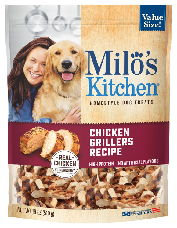 Milo's Kitchen Chicken Grillers with Natural Smoke Flavor Dog Treats