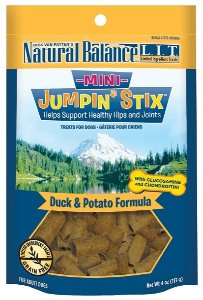 Natural Balance L.I.T. Limited Ingredient Treats Mini Jumpin' Stix Duck and Potato Formula Dog Treats